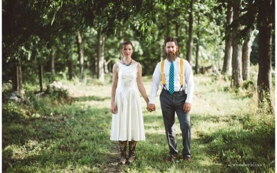 the story of a wedding made by hand and by field